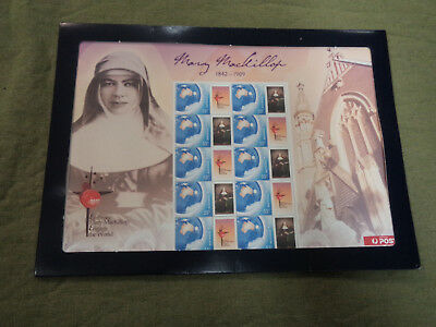 #t105.  Stamp Sheet -  Mary Mackillop