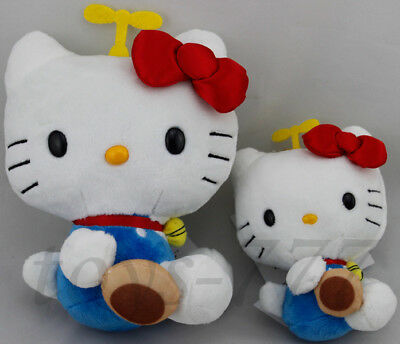 """2X Hello Kitty Character 7"""" and 5"""" Stuffed Animal with Cookie Plush Toys cat"""