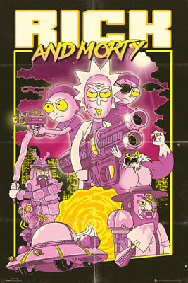 RICK AND MORTY - ACTION MOVIE POSTER (61x91cm)  PICTURE PRINT NEW ART