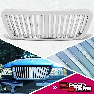 04-05 Ranger Chrome Abs Plastic Front End Bumper Skirts Sport Grill/Grille Cover