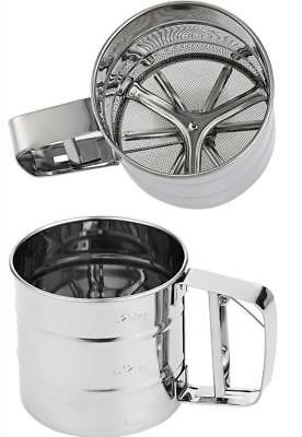 Useful DIY Tool Manual Cup Mesh Flour Sifter Stainless Steel Icing Sugar Shaker`