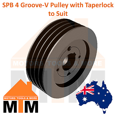 SPB B-section 4 Groove V Belt Pulley w/ taper lock to suit