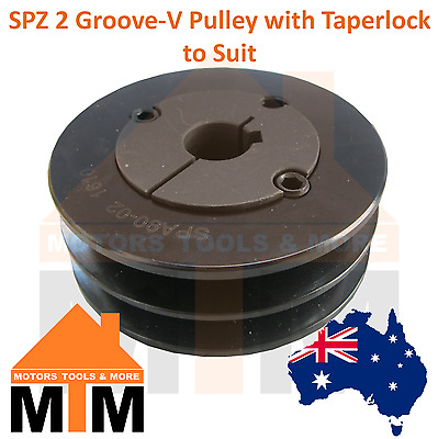 SPZ Z-section 2 Groove V Belt Pulley w/ taper lock to suit
