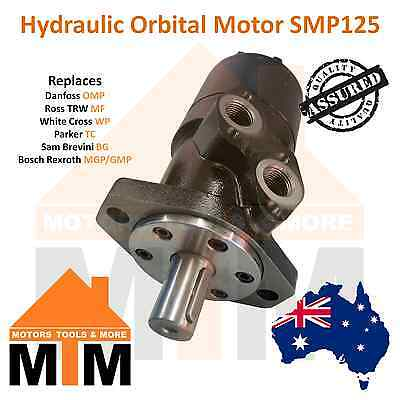 Orbital Hydraulic Motor SMP125 Interchangeable with White Cross WP, Parker TC