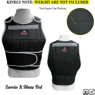Weighted Vest Running Gym Fitness Strength Weight Loss Adjustable Jacket