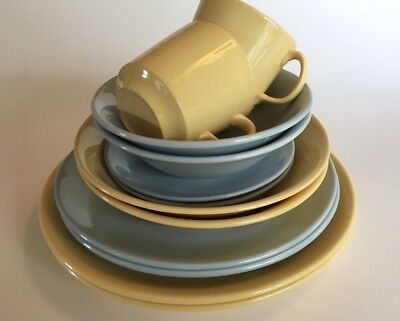 Lot 2 Johnson Australia - 12pc Harlequin Pastel Setting for 2 - Vintage Retro