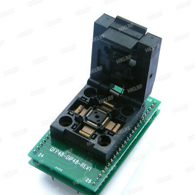 QFP48 to DIP48 Chip Programmer Socket QFP48-DIP48-REV1 Adapter Support ATMEGA8