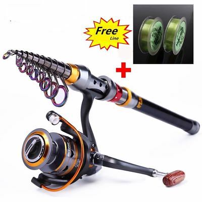 Fishing Rod and Reel Wheel Portable Travel Spinning   Combo