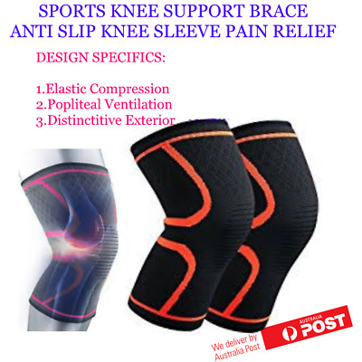 Anti Slip Elastic Knee Support Compression Brace Sleeve Sports Jogging Cycling