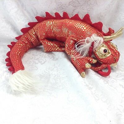 Used Folkmanis Chinese Dragon Puppet Plush Toy