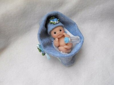 OOAK artist miniature  4 .5 cm  polymer  clay  baby doll  1/12th by HARRY
