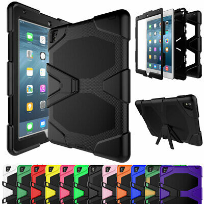 "For iPad Pro 12.9"" Hard Shockproof Hybrid Rubber Heavy Duty Kickstand Case Cover"