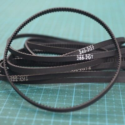 202-288mm 2GT-3.5mm Synchronous Close Loop Cogged Gear Rubber Timing Pulley Belt