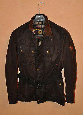 Belstaff Men's Waxed Cotton Dark Brown Jacket Size 40 S Small Made Italy P2P 18""