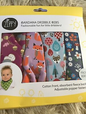 Zippy Bandana Dribble Bibs From Birth