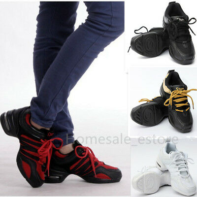 AU Womens Jazz Hip Hop Athletic Dance Breathable Sneakers Dancewear Shoes