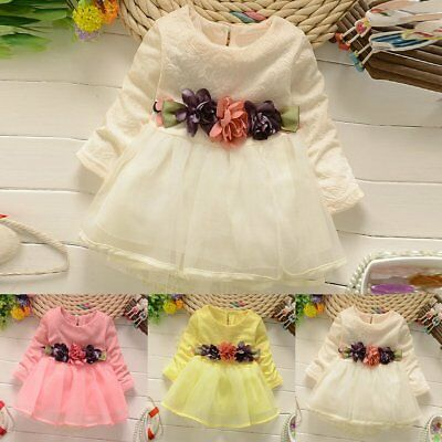 Toddler Infant Baby Girls Lace Princess Party Wedding Pageant Tutu Dress Clothes