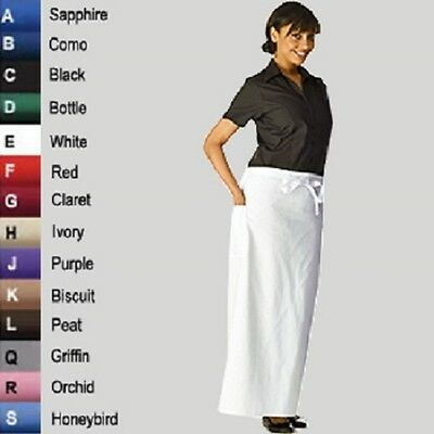 Long Waist Apron Various Colours Waiter Baker Chefs Full Length Apron Kitchen