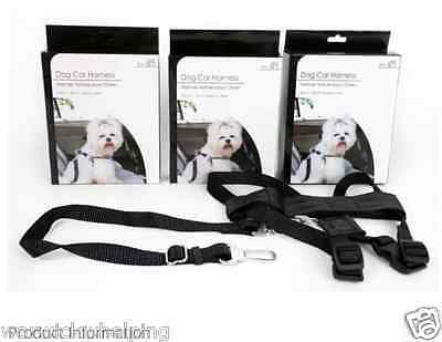 Dog Car Harness Safety travelling complete & Seat Belt Lead Attachment