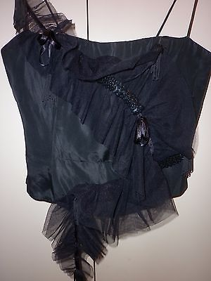 Vintage Jenny Bannister Taffeta Bustier Top Size 10  Excellent Condition