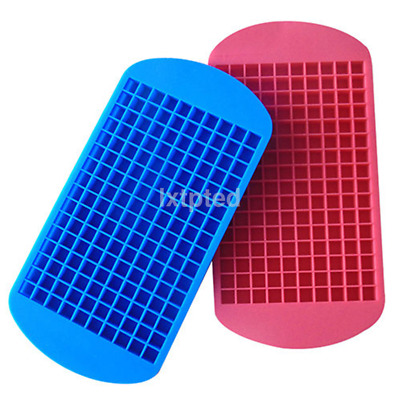 160 Mini Ice Cubes Silicone Tray Kitchen Bar Pudding Mould Mold Tool AU`