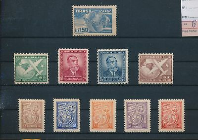 LH09078 South America 1949 U.P.U anniversary fine lot MH