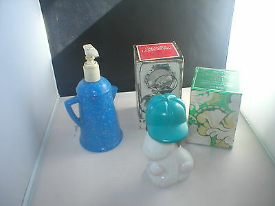 Vintage Avon decanters lot of 4 some with original boxes