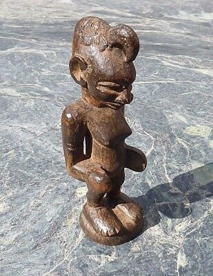 Good West African Tribal Art Carved Wooden Senufo Figure Not Dan Mask Luba Hemba