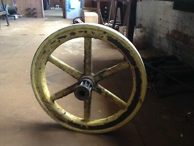 Cast Iron Vintage Pulley Wheel