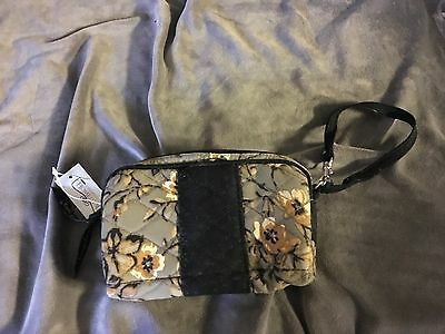 Longaberger cosmetic bag with wristlet strap