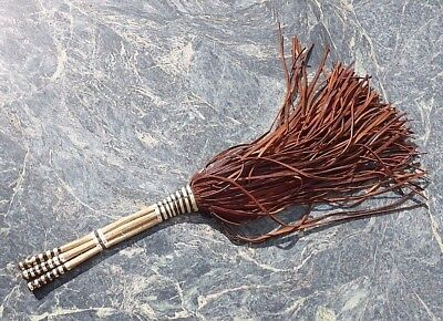 Good Quality West African Nigerian Tribal Art Leather Fly Swish Whisk Not Congo