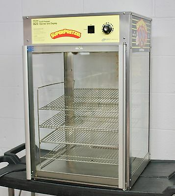 Soft Super pretzel food warmer and display machine Model # 825 heated lighted