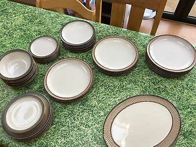 Denby Luxor tableware complete dinner service for 6 plus extras.