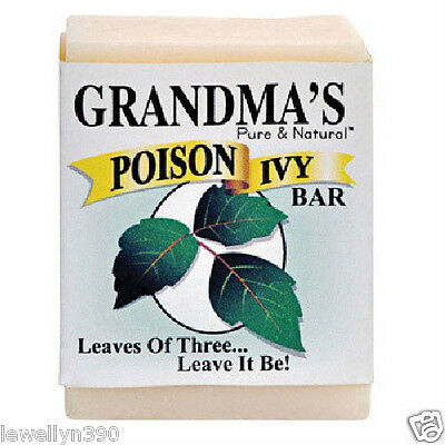 Grandma's Soap NATURAL POISON IVY & OAK BAR 2oz Jewelweed Stops the Itch! NEW!