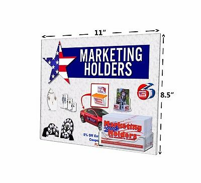 """11""""W x 8.5""""H Wall Mount Ad Frame/Sign Holder w/ Business Card Pocket Lot of 2"""