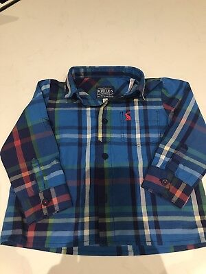 Joules Boy Checked Shirt Age 12-18 months