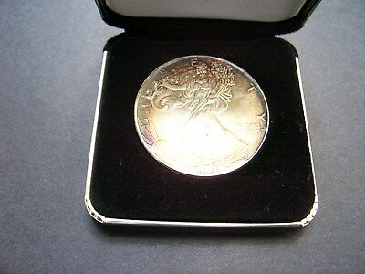 """Silver American Eagle 1 oz 999 fine Coin US $1 Dollar """"TONED"""" Uncirculated"""