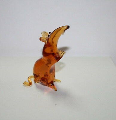 Art Blown Glass Murano Figurine  Glass Figurine Rats #1