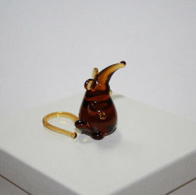 Art Blown Glass Murano Figurine  Glass Figurine Rats #3