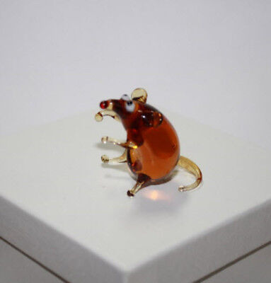 Art Blown Glass Murano Figurine  Glass Figurine Rats #4