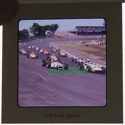 1965 Indianapolis 500 race 2 3/4 x 7mm color slide 2 Mickey Rupp Gordon Johncock