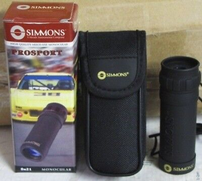 8x21  Simmons Monocular Pocket Telescope - Great for bird watching - NEW!