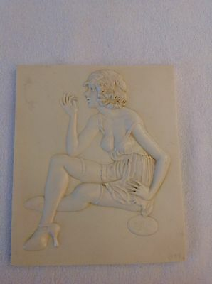 Art Deco Style Erotic Wall Plaque.
