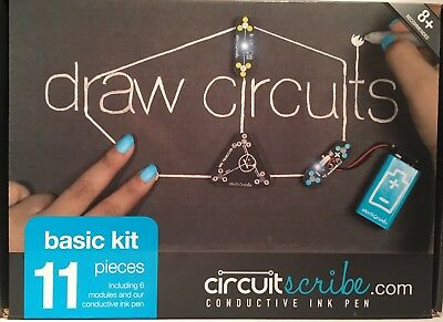 NEW IN BOX Circuit Scribe Basic Kit: Draw Circuits Instantly-Conductive Ink Pen