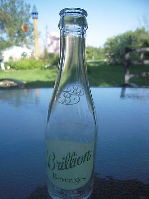 Vintage Soda Bottle Brillion Beverages Brillion Bottling 7 fl oz