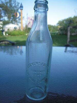 Vintage Beer Bottle Steven's Point Brewing Co Green Glass 8 oz
