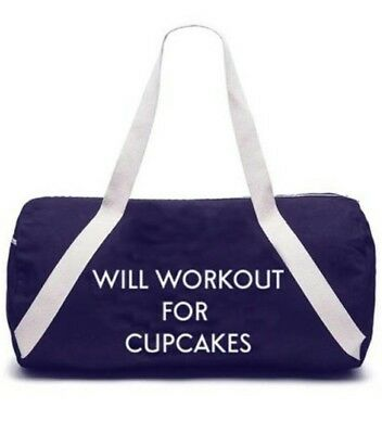 Private Party Gym Bag Will Workout for Cupcakes Fabfitfun NEW
