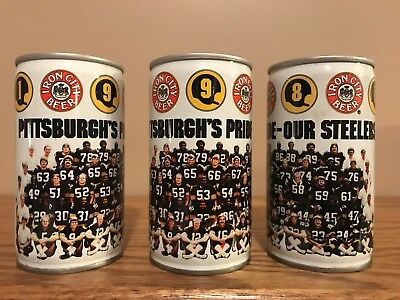 Iron City 1981 Pittsburgh's Pride - Our Steelers Beer Can BO NFL Football