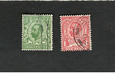 Great Britain SCOTT #151-52 used stamps