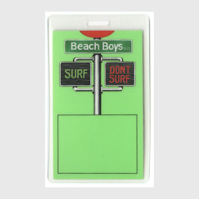 Beach Boys authentic 1991 concert tour Laminated Backstage Pass Brian Wilson